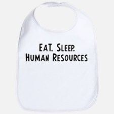Eat, Sleep, Human Resources Bib