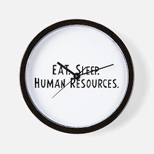 Eat, Sleep, Human Resources Wall Clock