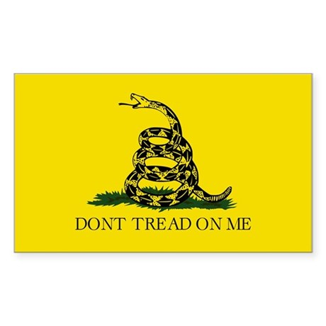 Don't Tread Rectangle Sticker