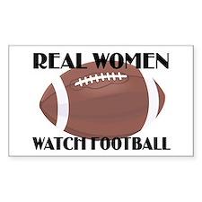 REAL WOMEN WATCH FOOTBALL (1) Rectangle Decal