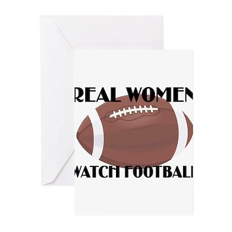 REAL WOMEN WATCH FOOTBALL (1) Greeting Cards (Pk o