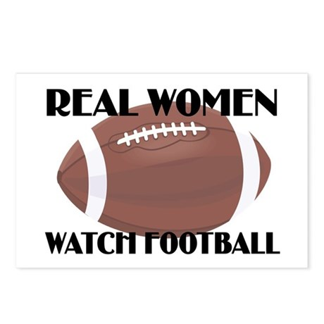 REAL WOMEN WATCH FOOTBALL (1) Postcards (Package o