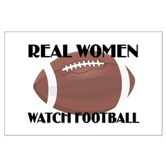 REAL WOMEN WATCH FOOTBALL (1) Posters