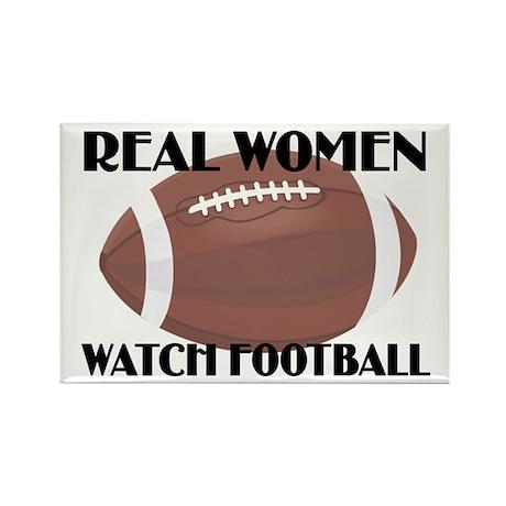 REAL WOMEN WATCH FOOTBALL (1) Rectangle Magnet (10