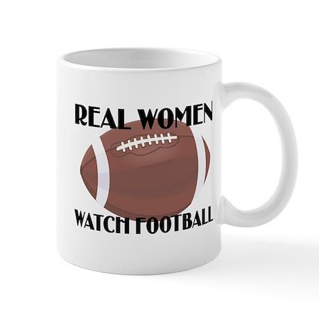 REAL WOMEN WATCH FOOTBALL (1) Mug