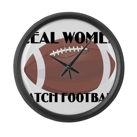 REAL WOMEN WATCH FOOTBALL (1) Large Wall Clock