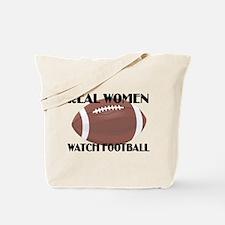 REAL WOMEN WATCH FOOTBALL (1) Tote Bag