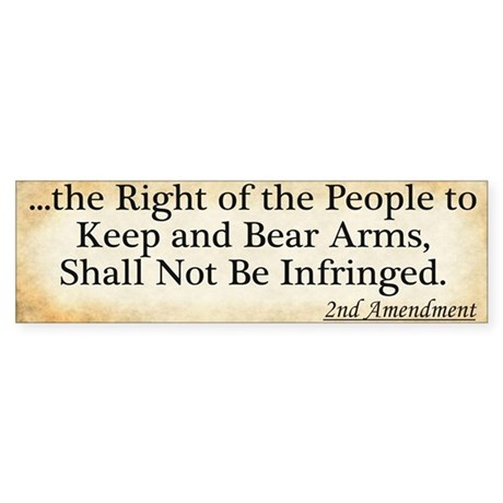 Right to Bear Arms Bumper Sticker (10 pk)