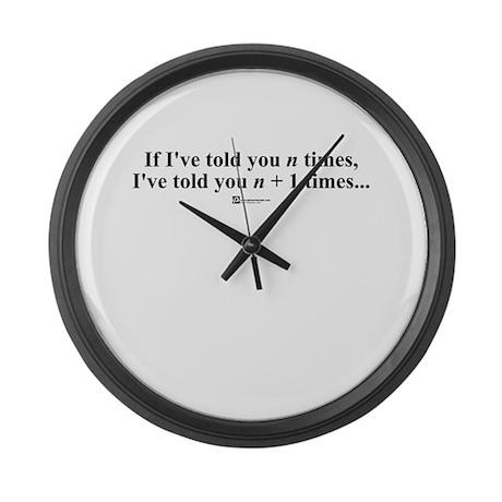 n + 1 Times - Large Wall Clock