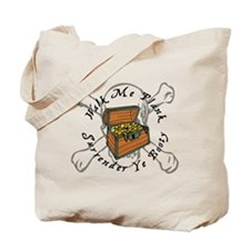 Funny Pirate Booty Tote Bag