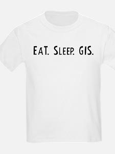 Eat, Sleep, GIS Kids T-Shirt