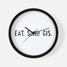 Eat, Sleep, GIS Wall Clock