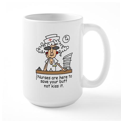 Save Your Butt! Lefty Large Mug