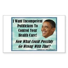 ObamaCare Rectangle Decal