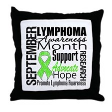 Awareness Month LYMPHOMA Throw Pillow