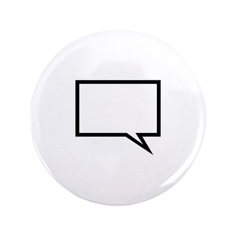 "Speech bubble 3.5"" Button (100 pack)"