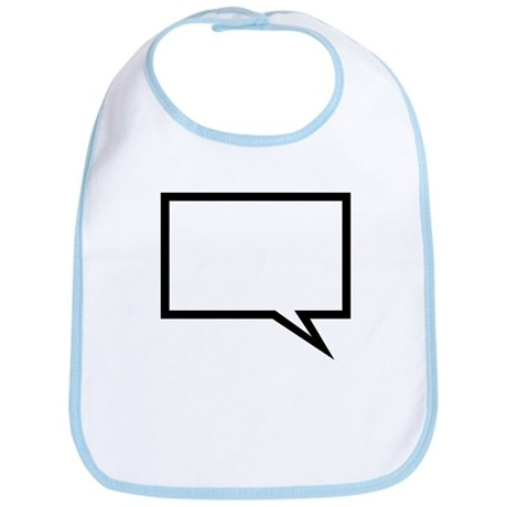 Speech bubble Bib