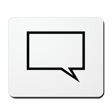 Speech bubble Mousepad
