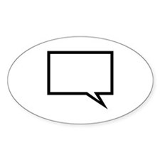 Speech bubble Oval Sticker (10 pk)