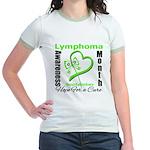 Lymphoma Awareness Month v4 Jr. Ringer T-Shirt