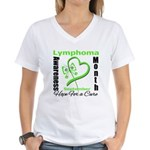 Lymphoma Awareness Month v4 Women's V-Neck T-Shirt
