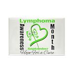 Lymphoma Awareness Month v4 Rectangle Magnet (10 p