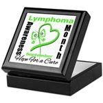 Lymphoma Awareness Month v4 Keepsake Box