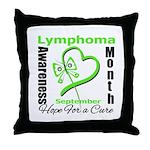 Lymphoma Awareness Month v4 Throw Pillow