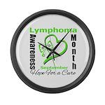 Lymphoma Awareness Month v4 Large Wall Clock