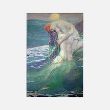 Pyle's Mermaid Rectangle Magnet