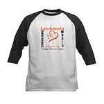 Leukemia Awareness Month v4 Kids Baseball Jersey