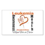 Leukemia Awareness Month v4 Rectangle Sticker 50