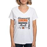 Leukemia Awareness Month Women's V-Neck T-Shirt