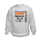 Leukemia Awareness Month Kids Sweatshirt