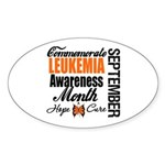 Leukemia Awareness Month Oval Sticker (50 pk)