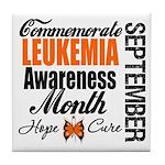 Leukemia Awareness Month Tile Coaster