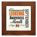 Leukemia Awareness Month Framed Tile