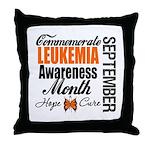 Leukemia Awareness Month Throw Pillow