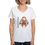 Leukemia Awareness Month v5 Women's V-Neck T-Shirt