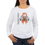 Leukemia Awareness Month v5 Women's Long Sleeve T-