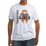 Leukemia Awareness Month v5 Fitted T-Shirt