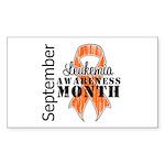 Leukemia Awareness Month v5 Rectangle Sticker 50