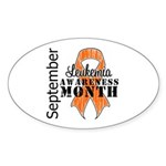 Leukemia Awareness Month v5 Oval Sticker (50 pk)