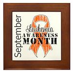 Leukemia Awareness Month v5 Framed Tile