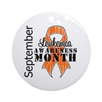 Leukemia Awareness Month v5 Ornament (Round)