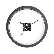 Unique Steel Wall Clock