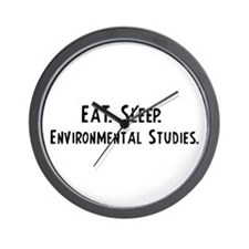 Eat, Sleep, Environmental Stu Wall Clock