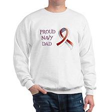 Proud Navy Dad Sweatshirt