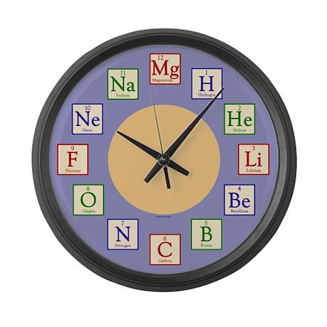 Kids Chemistry Geek Large Wall Clock