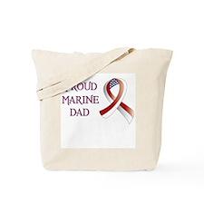 Proud Marine Dad Tote Bag